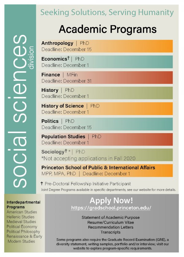 Social Sciences Brochure page 1